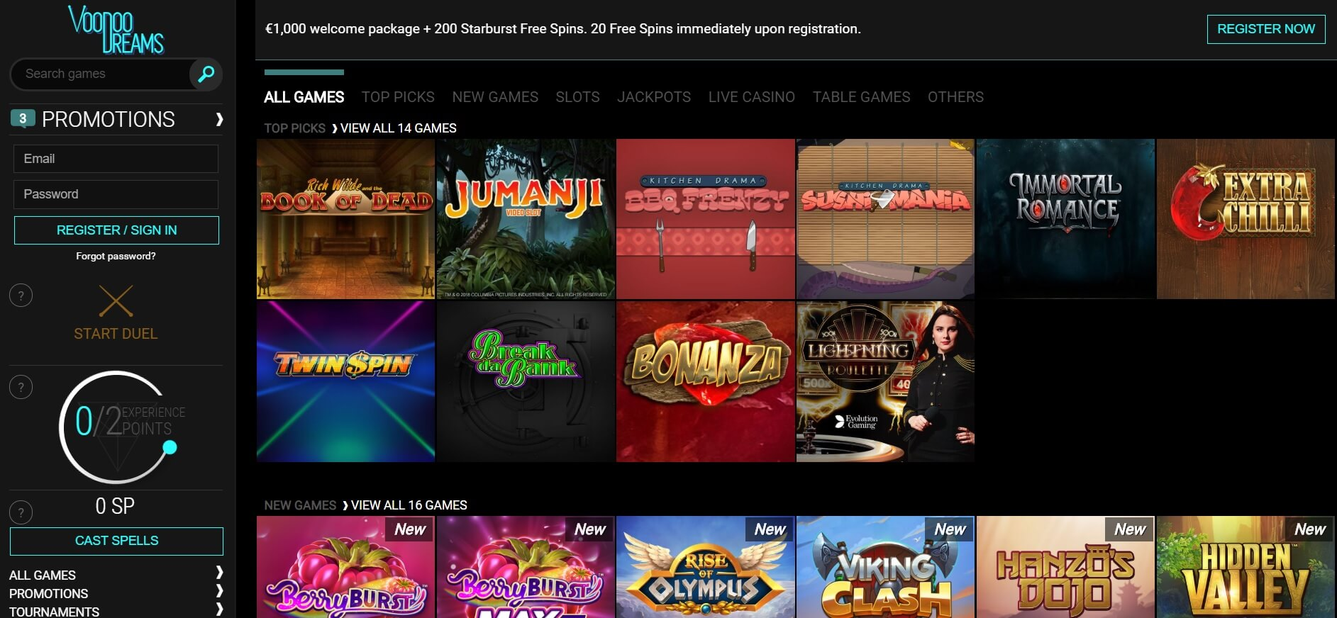 Voodoo dreams a slot site